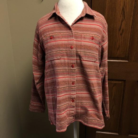 Woolrich Tops Orange Womens Flannel Shirt Poshmark